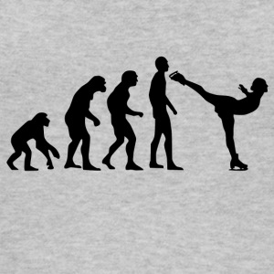 Human Evolution Ice Skating - Women's Organic Tank Top