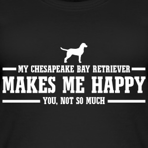 CHESAPEAKE BAY RETRIEVER makes me happy - Frauen Bio Tank Top