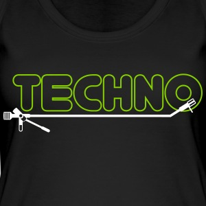 techno turntsble - Frauen Bio Tank Top