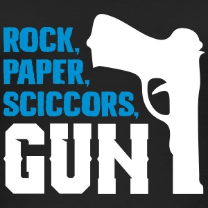 Funny rock paper scissors and gun - Women's Organic Tank Top
