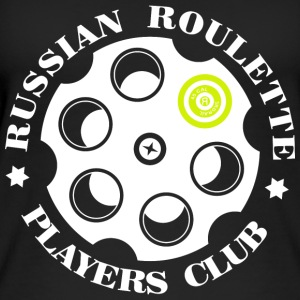 Russian Roulette Players Club logo 4 Musta - Naisten luomutoppi