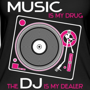 Music is my drug the dj is my dealer girls pink - Women's Organic Tank Top