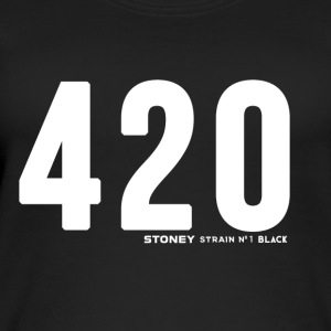 420 No.1 Strain BLACK - Øko-singlet for kvinner