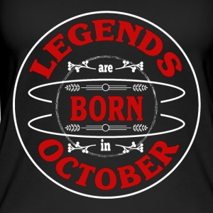 Birthday October legends born gift birth - Women's Organic Tank Top