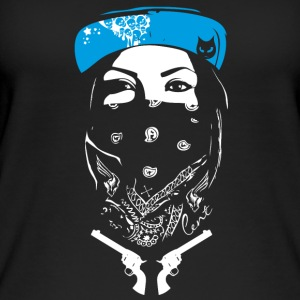 bad swag rap gang revolver street art spray tatoo - Frauen Bio Tank Top