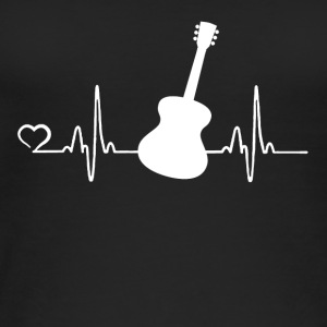 Guitar - heart beat - Women's Organic Tank Top