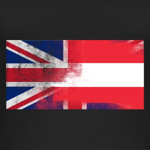 British Austrian Half Austria Half UK Flag - Women's Organic Tank Top