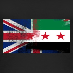 British Syrian Half Syria Half UK Flag - Women's Organic Tank Top