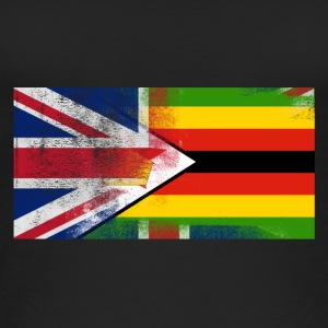 British Zimbabwean Half Zimbabwe Half UK Flag - Women's Organic Tank Top