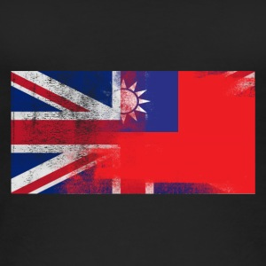 British Taiwanese Half Taiwan Half UK Flag - Women's Organic Tank Top
