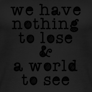 nothing to lose black - Women's Organic Tank Top