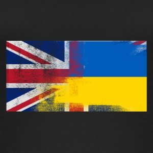 British Ukrainian Half Ukraine Half UK Flag - Women's Organic Tank Top