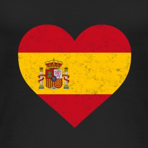 Spain Flag Shirt Heart - Spanish Shirt - Women's Organic Tank Top