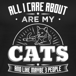 CAT CAT ALL I CARE ABOUT ARE MY CATS W - Women's Organic Tank Top