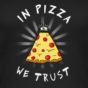 Pizza All Seeing Eye Illuminati FunnyFood oko MA - Ekologiczny top damski