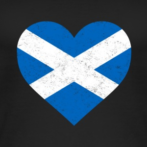 Scotland Flag Shirt Heart - Scottish Shirt - Women's Organic Tank Top
