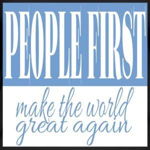 People first - make the world great again - Women's Organic Tank Top