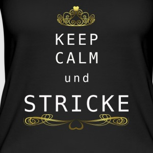 keepcalmstricke - Frauen Bio Tank Top