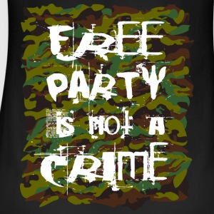 free party is not a crime tekno 23 - Frauen Bio Tank Top