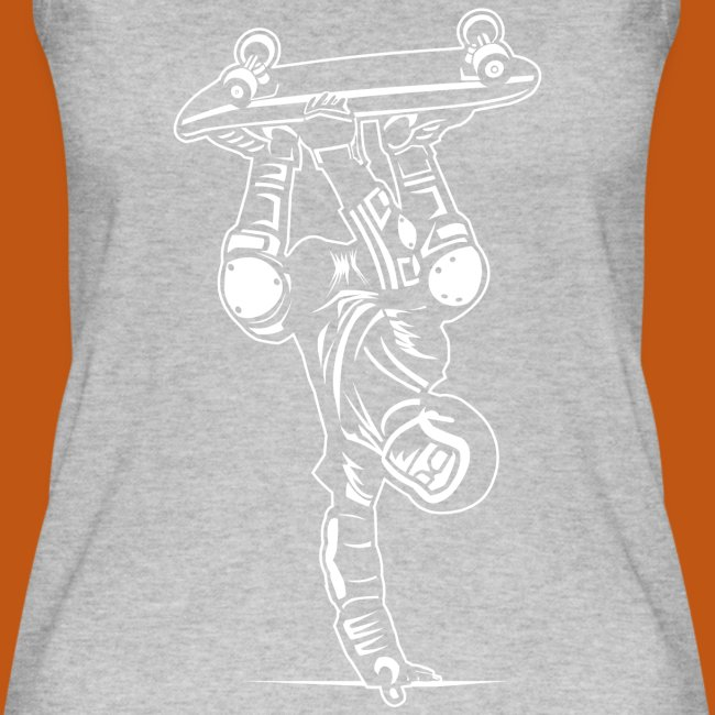 Skater / Skateboarder 02_weiß
