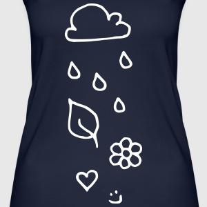 Cloud rain heart leaf flower smiley face - Women's Organic Tank Top