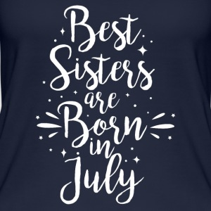 Best sisters are born in July - Women's Organic Tank Top
