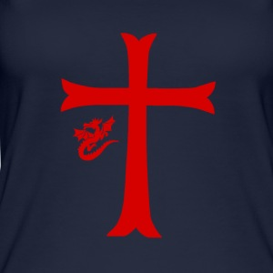 Red Dragon & Cross - Top da donna ecologico