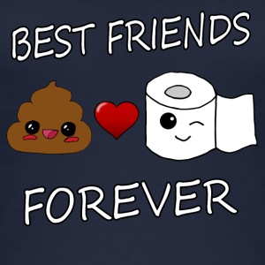 Poo e carta Best Friends Kawaii - Top da donna ecologico