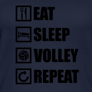 EAT SLEEP VOLLEY REPEAT - Frauen Bio Tank Top