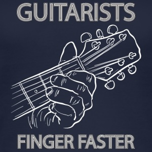 Guitarists finger faster - musik - Frauen Bio Tank Top