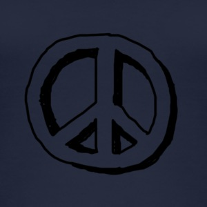 Peace hippie logo - Women's Organic Tank Top
