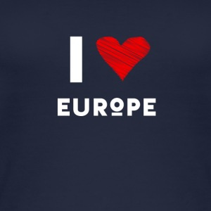 I Love Europe eu Herz rot liebe statement Demo fun - Frauen Bio Tank Top