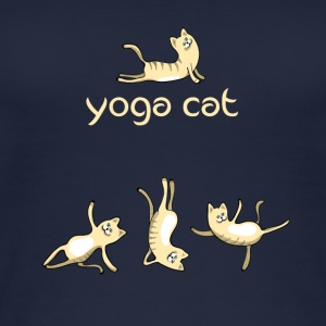 Cat yoga cat cute namaste humor funny LOL - Women's Organic Tank Top
