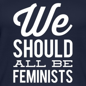 we all should be feminists 1 weiss - Frauen Bio Tank Top