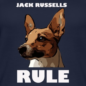 Jack russels rule white - Frauen Bio Tank Top