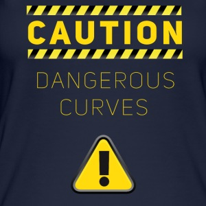 humor dangerous caution dangerous curves baustelle - Women's Organic Tank Top