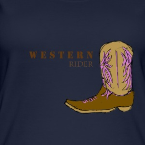 Western rider color - Women's Organic Tank Top