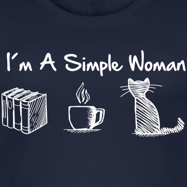 Vorschau: simple woman cat books - Frauen Bio Tank Top von Stanley & Stella
