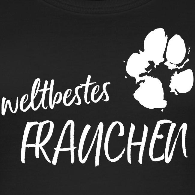 Vorschau: weltbestes Frauchen Pfote Hund - Frauen Bio Tank Top von Stanley & Stella
