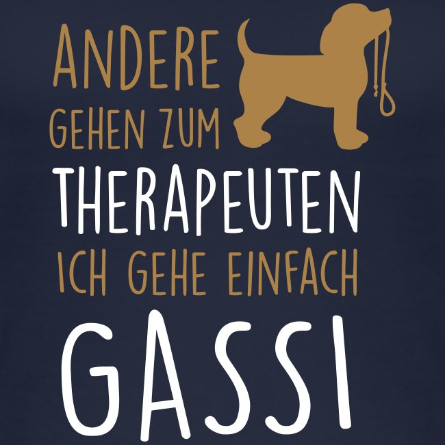 Vorschau: Gassi Therapeut Hund - Frauen Bio Tank Top von Stanley & Stella