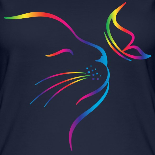 rainbow butterfly cat - Frauen Bio Tank Top von Stanley & Stella