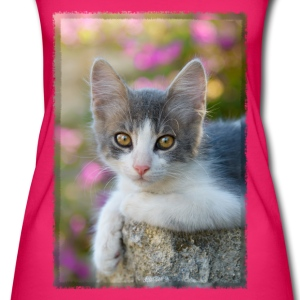 Cute gray-white kitten - Women's Organic Tank Top