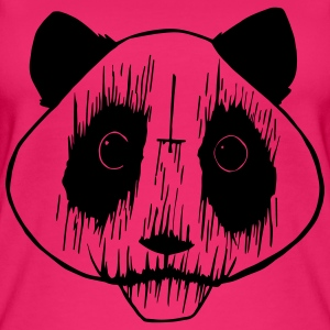 Black Metal Panda - Top da donna ecologico