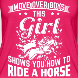 ridehorse MOVE OVER this girls shows you - Frauen Bio Tank Top