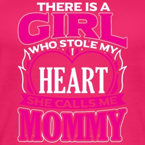 MOMMY - THERE IS A GIRL WHO STOLE MY HEART - Women's Organic Tank Top