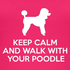 Hund / Pudel: Keep Calm And Walk With Your Poodle - Frauen Bio Tank Top