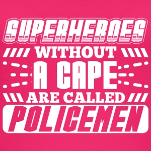 SUPERHEROES POLICE - Frauen Bio Tank Top