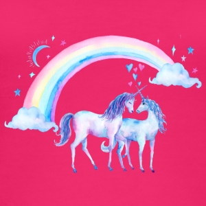 Unicorn couples in love - Women's Organic Tank Top