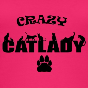 CRAZY Catlady sort - Øko tank top til damer