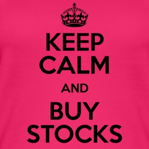KEEP CALM AND BUY STOCKS - Women's Organic Tank Top